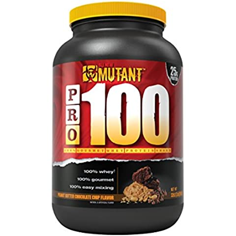 Mutant PRO 100 Whey, Delicious High Quality Gourmet Protein Powder, Peanut Butter Chocolate Chip, 2 Pound by