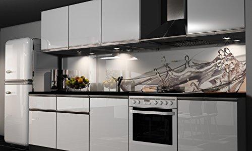 Küchenrückwand-Folie selbstklebend | Sekt-Gläser | Klebefolie in verschiedenen Größen | Fliesenspiegel | Dekofolie | Spritzschutz | Küche | Möbel-Folie