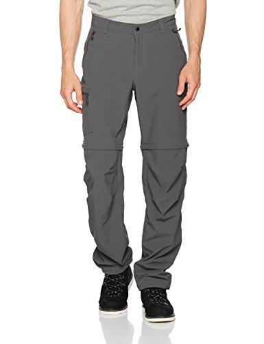 Columbia 2-in-1 Wanderhose für Herren, Triple Canyon Convertible Pants, Polyester, grau (Grill), Größe: 32, AM1290 - Cargo Convertible Shorts