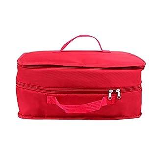 Tragbares Gepäcksystem zum Aufhängen von Reisen, 3-lagige Aufbewahrungstasche, Organizer, ordentliche Reisetasche, Kosmetiktasche, Make-up-Aufbewahrungstasche rot