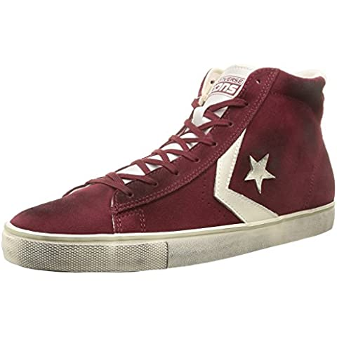Converse, Pro Leather Vulc Mid Suede/Lth Sneaker,Unisex Adulto