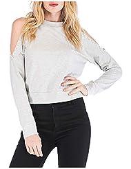 Camisa Larga Mujer Tops Deportivos Fiesta Sexy Moda Causal De Manga para Moda Oficina SeñOras Camiseta SóLida O-Cuello Blusa Superior
