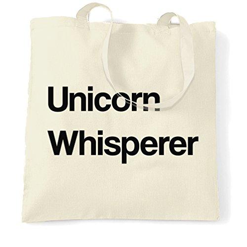 Essere sempre un unicorno Whisperer Sacchetto Di Tote Natural