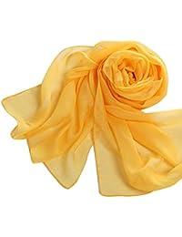 01e5f193f5f7 good01 Mode doux en mousseline de soie Écharpe longue femme Couleur unie  Châle Wrap Stole Cadeau
