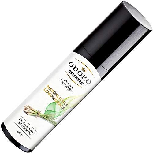 Saunaaufguss Lemongrass von Odoro Essenzen - 100% ätherische Sauna-Öle - Premium Aufguss-Konzentrat (100ml) - Natur Sauna-Aufguss, Zitronengras Erfrischung Sauna-Aufgüsse -