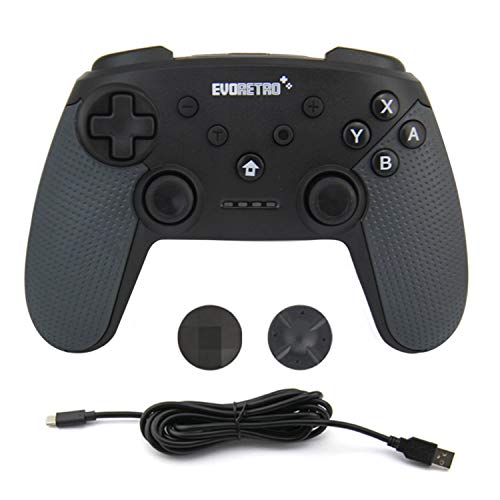EVORETRO Wireless Controller für Nintendo Switch - PC Switch Android Pro Controller Kabelloser, Drahtloser Bluetooth Gamepad