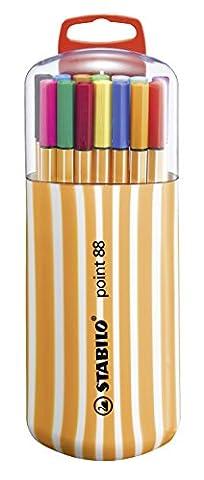 STABILO point 88 - Étui Zebrui de 20 stylos-feutres pointe fine - Coloris assortis