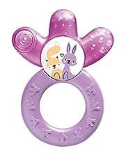 Idea Regalo - MAM 816622 - Dentaruolo rinfrescante per bambine, colori assortiti, 1 Pezzo