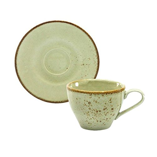 Kaffeetasse Teetasse Cappuccinotasse + Untertasse NATURE COLLECTION | Steinzeug | Earth - Beige |...