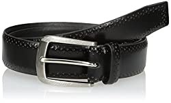 Van Heusen Mens Mens Leather Embossed Pin-dot Belt