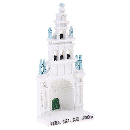 T TOOYFUL Miniatur Rossio Cathedral Resin Für Garten Outdoor Yard House Zubehör