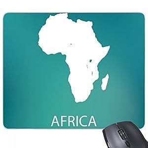 África continente silueta esquema mapa alfombrilla de ratón juego oficina de goma antideslizante ratón Pad regalo