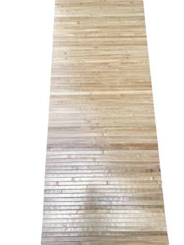 Tappeto bamboo a METRAGGIO vari colori disponibili ANTISCIVOLO ( cucina bagnpo camera sauna) (Legno Chiaro)