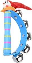 zolimx Campanillas del bebé, anillo de Jingle madera juguete instrumento Musical (El color es aleatorio)