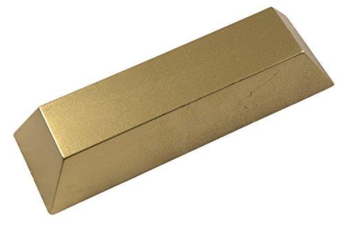 ERRO Goldbarren aus Kunststoff - 29976, Sehr leichte Spaßattrappe, Geschenkidee, Dekoattrappe, Dekoartikel, Deko Geschenk, Theater und Bühnen Requisite, Hohlattrappe Gold ()