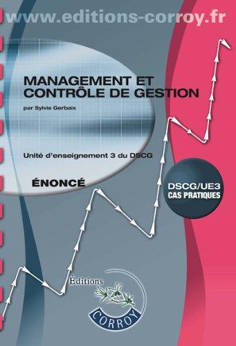 Management et contrôle de gestion UE 3 ...