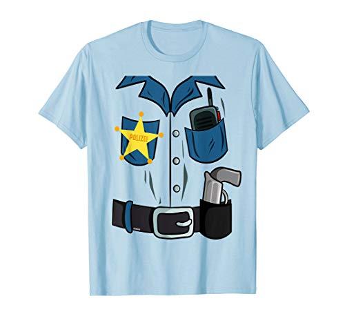 Polizei Kostüm Shirt Kinder Last Minute Fasching Kostüm T-Shirt (Kinder Last-minute-kostüme Für)