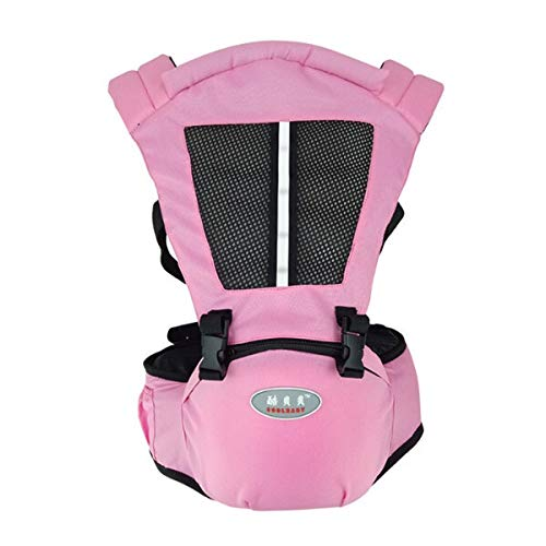 AAJTCT Komfortable Multifunktionale Neue Baby-Tragetasche Taille Hocker Walker Baby-Riemen-Gurt-Kind-Kind Halten HipSeat für Neugeborene (Color : Pink) -