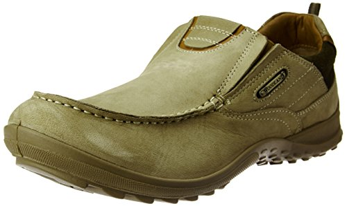 Woodland Men's Khaki Leather Sneakers - 11 UK/India (45 EU)  available at amazon for Rs.1857