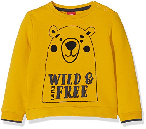 s.Oliver Baby-Jungen 65.909.41.2760 Sweatshirt, Gelb (Dark Yellow 1549), (Herstellergröße: 92)