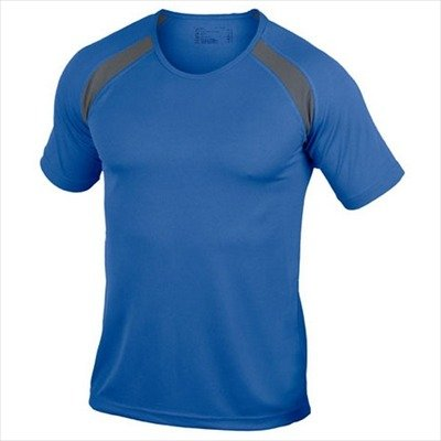 Hanes - Men's Tagless Crew Neck T Contrast Sports S,Royal Blue