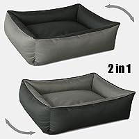 BedDog 2 en 1 MAX DUO antracita/gris XL aprox. 100x85cm colchón para perro, 6 colores, cama para perro, sofá para perro, cesta para perro