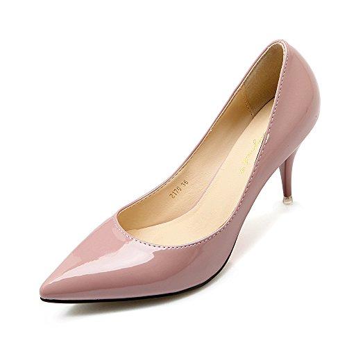 La Version Coréenne De Chaussures À Talons Hauts Célibataires Coréens Chaussures Noires Chaussures Simples Bien Avec Le Travail De Nuit Peinture De Couleur De Peau Nue Raw Color