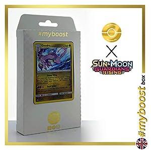 Goodra 96/145 Holo - #myboost X Sun & Moon 2 Gardians Rising - Box de 10 Cartas Pokémon Inglesas