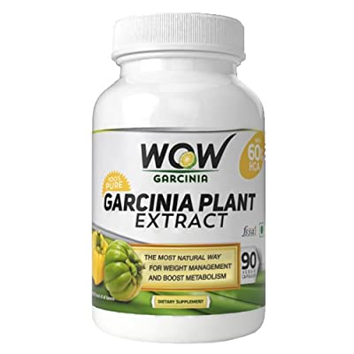 60% HCA Super Strength WOW Garcinia Cambogia With 90 Fast Acting Veg Capsules. All Natural Appetite Suppressant and Weight Loss Supplement ! Number #1 Weight Loss Product in India!