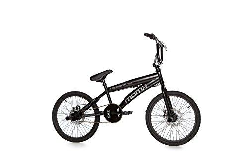 """Moma Bikes Bicicleta BMX FREESTYLE 360ª - Alu, 2x Freno Disco - Ruedas 20"""""""