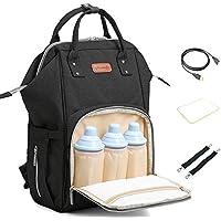 Multifunktionale Wasserdichte Babytasche Reiserucksack mit USB-Lade Port f/ür Unterwegs Gro/ße Kapazit/ät Grau Tobbiheim Baby Wickelrucksack Wickeltasche mit 2 Pcs Kinderwagen-haken