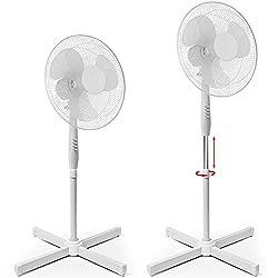 Standventilator I 3 Geschwingdigkeitsstufen I höhenverstellbar I oszillierend I 90° drehbar I Ventilator Luftkühler