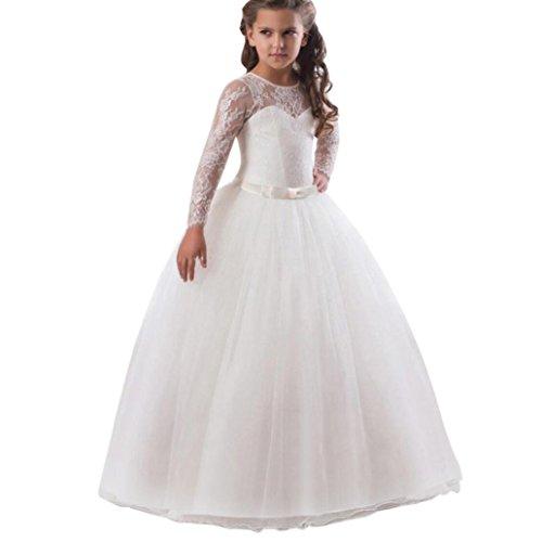 Omiky Baby Mädchen Spitze Prinzessin Brautjungfer Festzug Tutu Tüll Kleid Party Hochzeitskleid...
