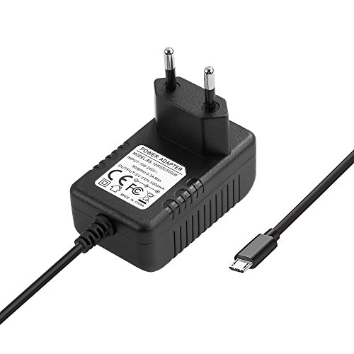 BERLS 5V 3A (3000mA) MICRO USB Chargeur Adaptateur Alimentation Pour Raspberry Pi 3 Modèle B / Raspberry Pi 2 -150cm Câble, Noir …