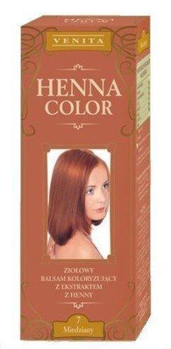 Henna Color 7 Kupfer Haarbalsam Haarfarbe Farbeffekt Naturhaarfärbemittel Henne Öko