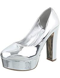 Suchergebnis auf Amazon.de für  Riemchen Pumps - Silber   Pumps ... cbe1690877