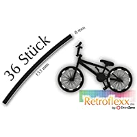 .drivezero. Retroflexx Reflektorenbögen 8 mm für Fahrradfelgen