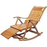 WJJJ Fauteuil à Bascule en Bambou d'extérieur Patio Chaise Longue de Jardin Chaise...