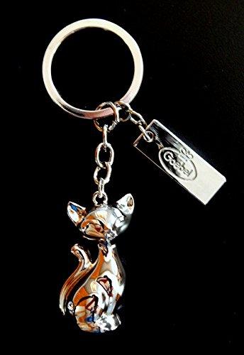 Goebel Schlüsselanhänger Mini-Kitties Kitte de luxe Katze Metall mit Swarovski Stein Neuheit 2014