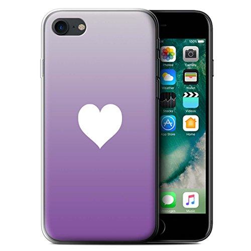 Stuff4 Gel TPU Hülle / Case für Apple iPhone 6S+/Plus / Abstrakte Kunst/Farbe Muster / Lila Mode Kollektion Ombre Herz/Liebe