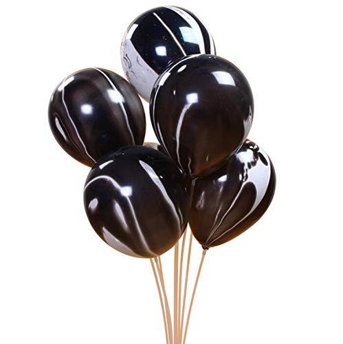 Banner Rose Gold, 10PCS 10inch Latex-Ballon Marmor Metallic-Ballon Chrome Ballone Hochzeit Erwachsene Geburtstags-Party-Fotografie Props Dekor, schwarz
