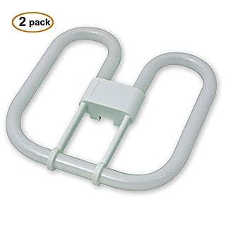 2 Pack of 2D Butterfly Lamp 2 Pin 16 Watt Light Bulb 2700k Warm White by ASD Lighting
