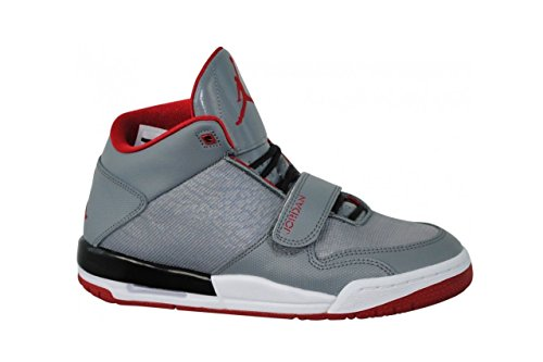 Nike Air Fltclb 90er Herren Hallo Top Basketball-Trainer 602.661 Turnschuhe (uk 8 Us 9 Eu 42,5, Cool Cool Grey/Gym Red/Black/White