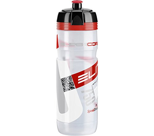 Elite Trinkflasche Supercorsa Clear-rot, Transparent, 750 ml