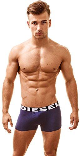 Diesel Herren 3 Pack Boxershorts Männer Boxer Trunk Unterwäsche Panties Multipack Unterhosen Multi-Black