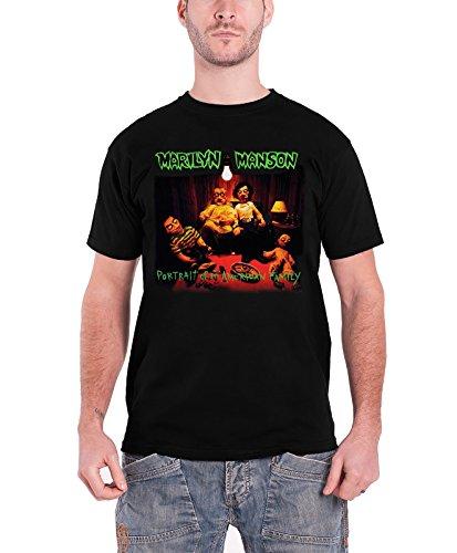 Marilyn Manson T Shirt Homme Noir American Family nouveau officiel logo