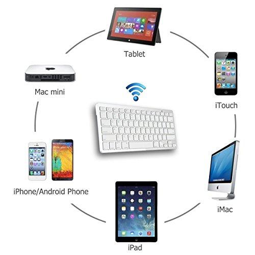 Ophion® Ultrathin Bluetooth Keyboard for iPad Air , iPad Mini, iPad 2/ 3/ 4/, iPhone 4/ 4S/ 5 / 5S, Google Nexus, Samsung Galaxy Tab, Samsung Galaxy Note and other Tablets