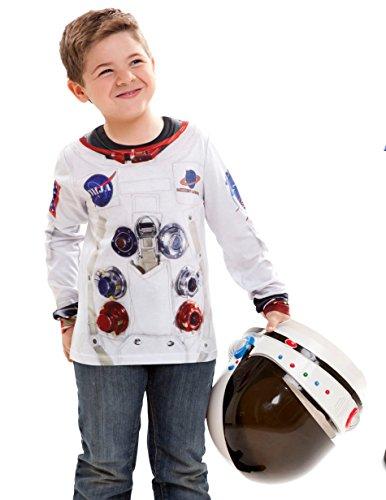 viving Kostüme viving costumes231060Astronaut Lange Ärmel T-Shirt (4–6Jahre, One size) (Dress Kostüm Astronaut Up)