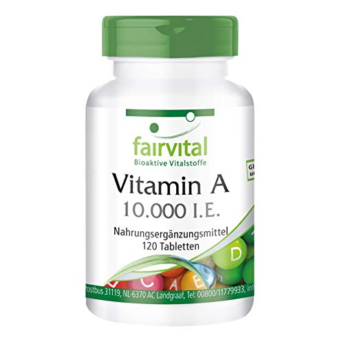 Vitamina A 10000 UI - Bote para 4 meses - Altamente dosificado