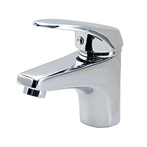 DP Grifería SCER-0001 Grifo de lavabo monomando serie Sauce, Plateado